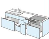 DIYキッチン プランニング 引き扉