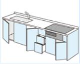 DIYキッチン プランニング 開き扉