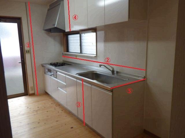 DIYキッチン 採寸方法