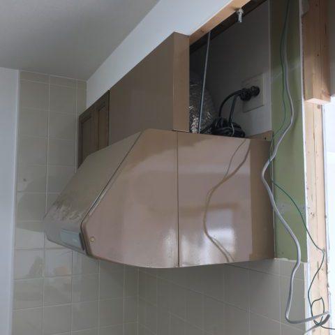 キッチン レンジフード 排気確認