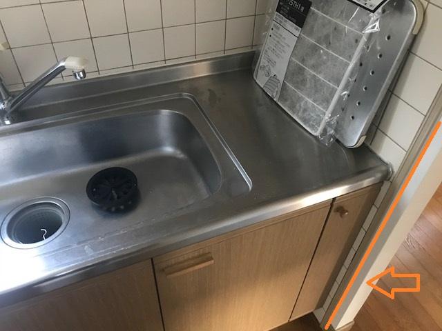 DIYキッチン組立 基準線