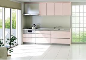 I型キッチン DIYでの組立てイメージ