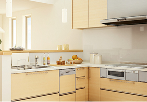 L型キッチン DIYでの組立てイメージ