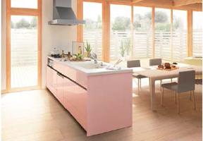 対面型キッチン DIYでの組立てイメージ