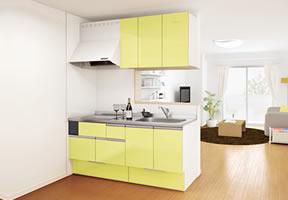 アパート用キッチン DIYでの組立てイメージ