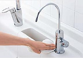 キッチン浄水器 DIYでの取替えのイメージ