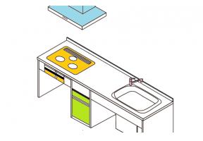 キッチン機器のビルトインのイメージ